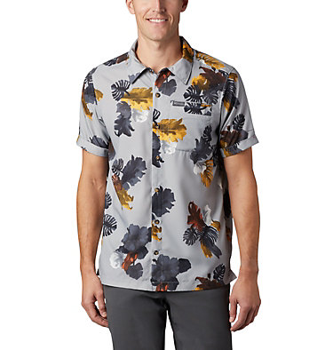 Men's Outdoor Elements™ Short Sleeve Print Shirt Outdoor Elements™ SS Print Shirt | 428 | L, Columbia Grey Tropical, front