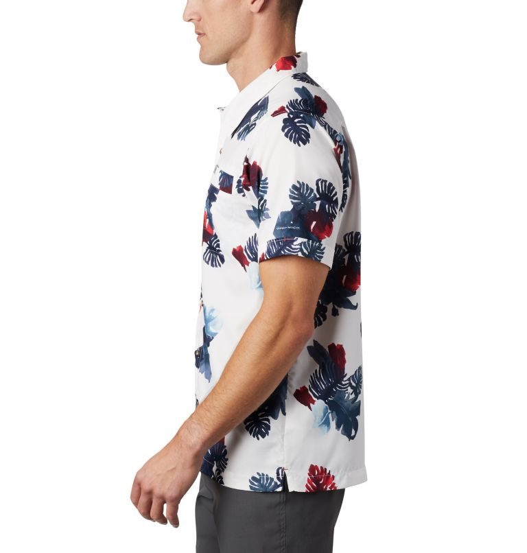 Outdoor Elements™ SS Print Shirt | 100 | XXL Men's Outdoor Elements™ Short Sleeve Print Shirt, White Tropical, a1