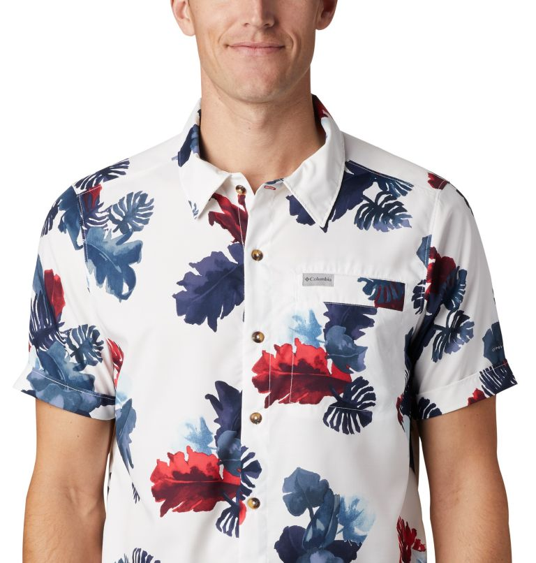 Outdoor Elements™ SS Print Shirt | 100 | XXL Men's Outdoor Elements™ Short Sleeve Print Shirt, White Tropical, a2