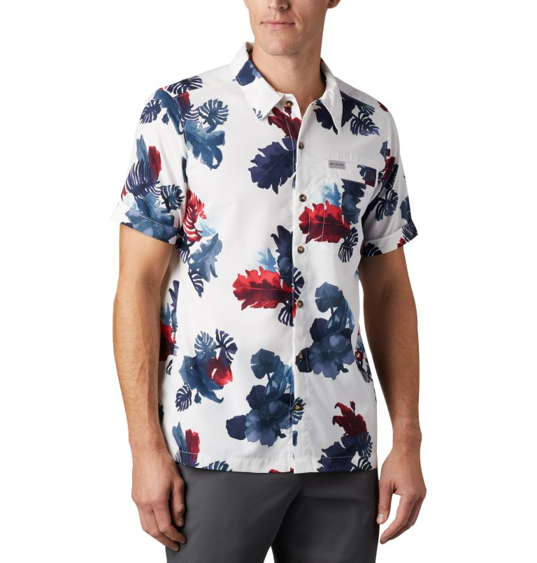 Outdoor Elements™ SS Print Shirt | 100 | XXL Men's Outdoor Elements™ Short Sleeve Print Shirt, White Tropical, a3