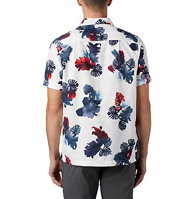 Men's Outdoor Elements™ Short Sleeve Print Shirt Outdoor Elements™ SS Print Shirt | 428 | L, White Tropical, back