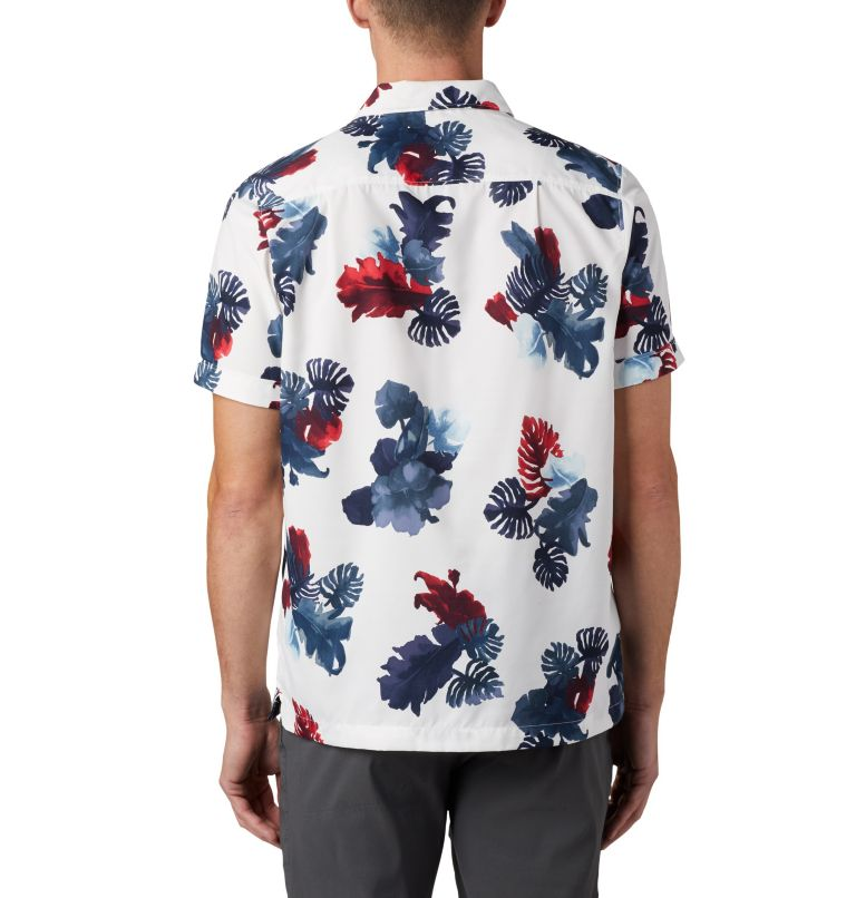 Outdoor Elements™ SS Print Shirt | 100 | XXL Men's Outdoor Elements™ Short Sleeve Print Shirt, White Tropical, back