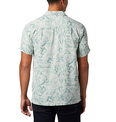 Men's Outdoor Elements™ Short Sleeve Print Shirt Outdoor Elements™ SS Print Shirt | 428 | L, Pixel Wild Trees, back