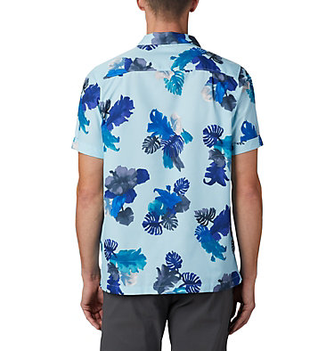 Men's Outdoor Elements™ Short Sleeve Print Shirt Outdoor Elements™ SS Print Shirt | 427 | L, Sky Blue Tropical, back