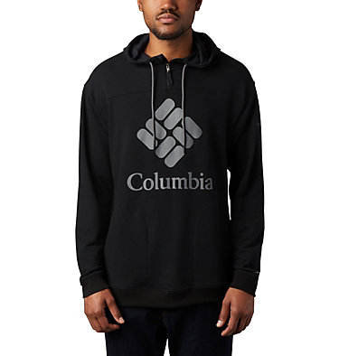Chandail à capuchon en tissu éponge Columbia Lodge™ pour homme Columbia Lodge™ French Terry Hoodie | 100 | L, Black, City Grey, front