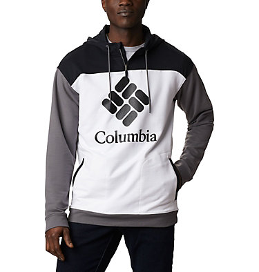 Chandail à capuchon en tissu éponge Columbia Lodge™ pour homme Columbia Lodge™ French Terry Hoodie | 100 | L, White, Black, City Grey, front