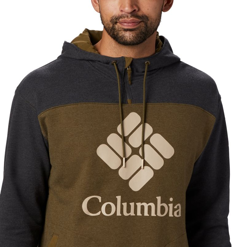 Columbia Lodge™ French Terry Hoodie | 327 | M Men's Columbia Lodge™ French Terry Hoodie, New Olive Heather, Shark Heather, a1