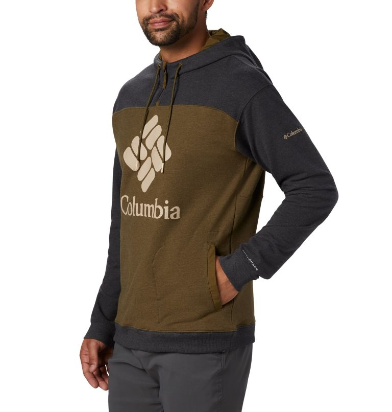 Columbia Lodge™ French Terry Hoodie | 327 | M Men's Columbia Lodge™ French Terry Hoodie, New Olive Heather, Shark Heather, a2
