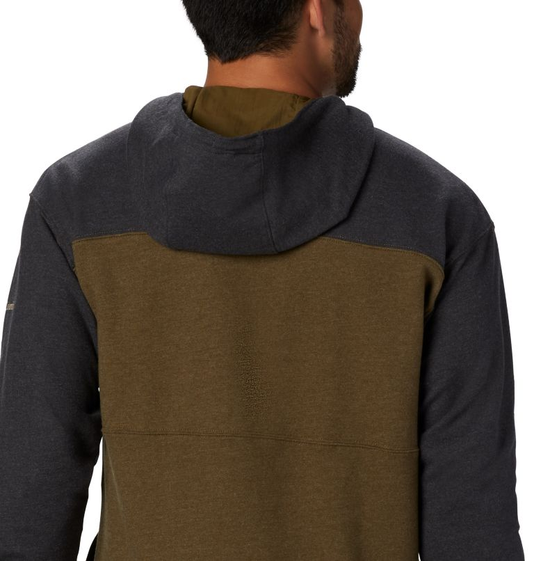 Columbia Lodge™ French Terry Hoodie | 327 | M Men's Columbia Lodge™ French Terry Hoodie, New Olive Heather, Shark Heather, a3