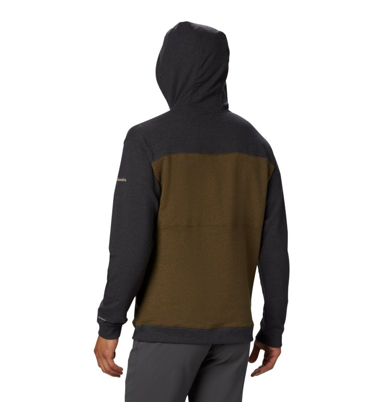 Columbia Lodge™ French Terry Hoodie | 327 | M Men's Columbia Lodge™ French Terry Hoodie, New Olive Heather, Shark Heather, back