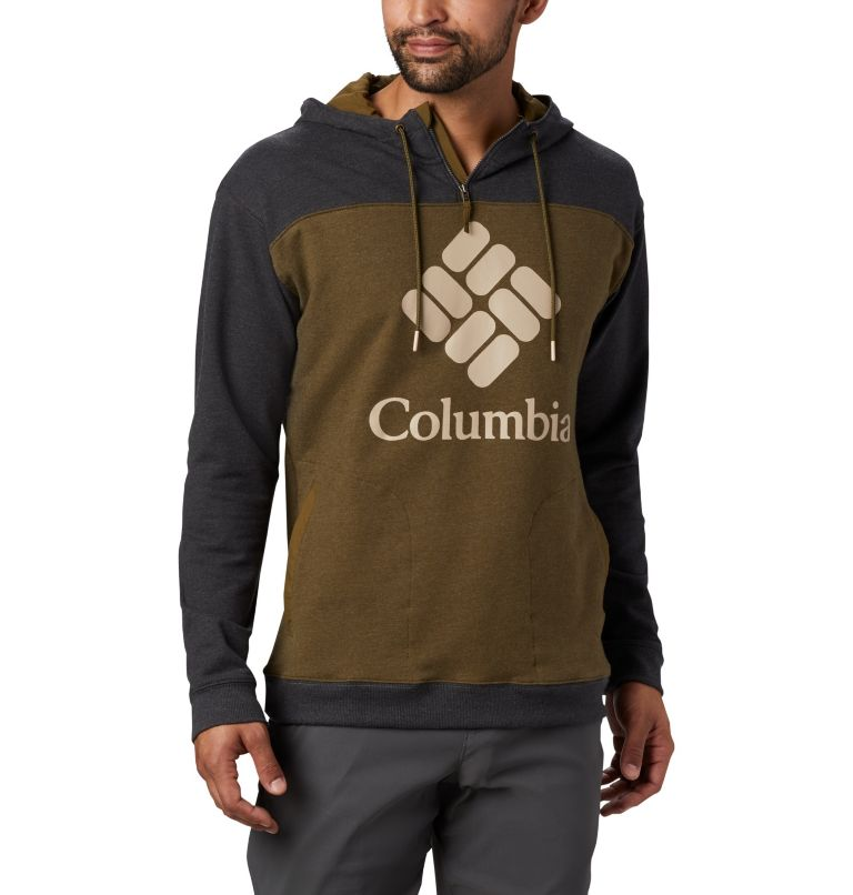 Columbia Lodge™ French Terry Hoodie | 327 | M Men's Columbia Lodge™ French Terry Hoodie, New Olive Heather, Shark Heather, front