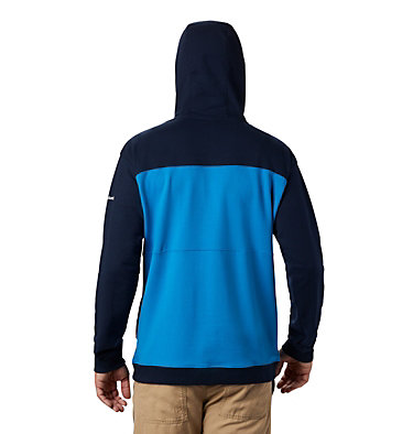 Men's Columbia Lodge™ French Terry Hoodie Columbia Lodge™ French Terry Hoodie | 011 | L, Azure Blue, Collegiate Navy, back