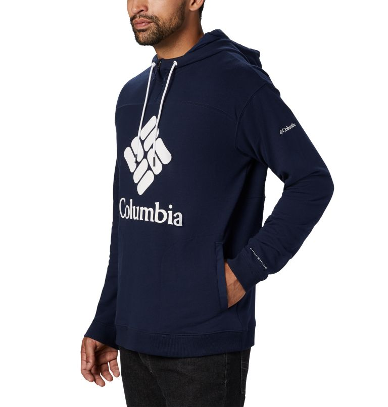Columbia Lodge™ French Terry Hoodie | 464 | S Men's Columbia Lodge™ French Terry Hoodie, Collegiate Navy, White, a2