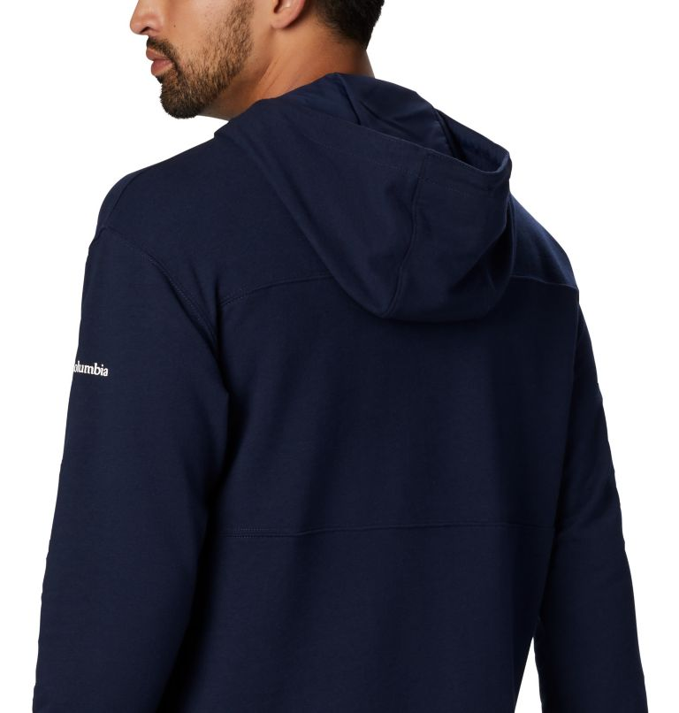 Columbia Lodge™ French Terry Hoodie | 464 | S Men's Columbia Lodge™ French Terry Hoodie, Collegiate Navy, White, a3