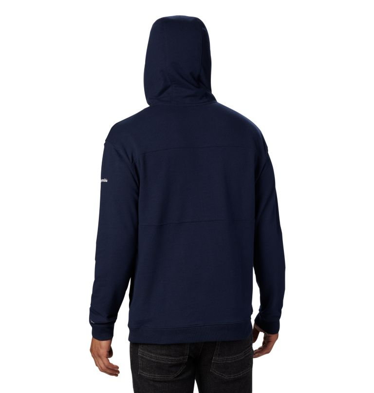 Columbia Lodge™ French Terry Hoodie | 464 | S Men's Columbia Lodge™ French Terry Hoodie, Collegiate Navy, White, back