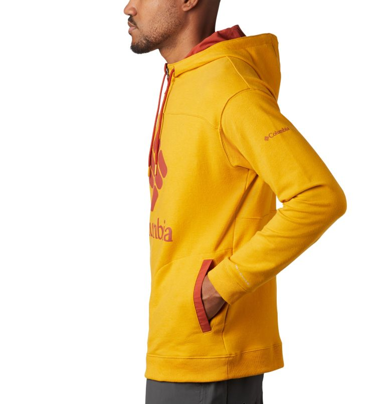 Columbia Lodge™ French Terry Hoodie | 790 | XL Men's Columbia Lodge™ French Terry Hoodie, Bright Gold Heather, Carnelian Red, a1