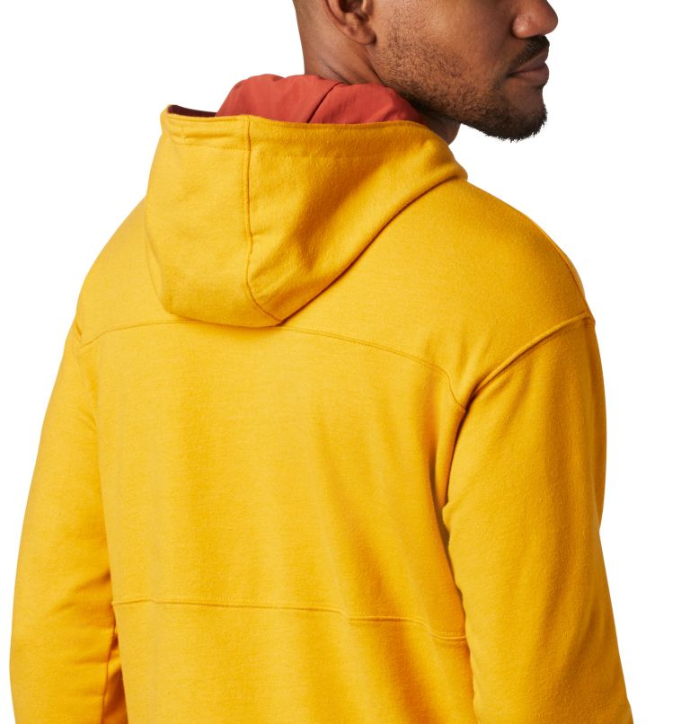 Columbia Lodge™ French Terry Hoodie | 790 | XL Men's Columbia Lodge™ French Terry Hoodie, Bright Gold Heather, Carnelian Red, a3