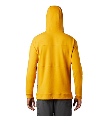 Men's Columbia Lodge™ French Terry Hoodie Columbia Lodge™ French Terry Hoodie | 011 | L, Bright Gold Heather, Carnelian Red, back