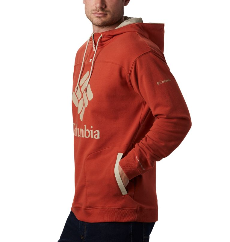 Columbia Lodge™ French Terry Hoodie | 835 | XL Men's Columbia Lodge™ French Terry Hoodie, Carnelian Red, Fossil, a1