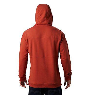 Men's Columbia Lodge™ French Terry Hoodie Columbia Lodge™ French Terry Hoodie | 011 | S, Carnelian Red, Fossil, back