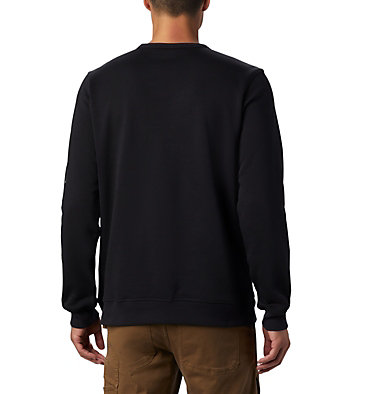 Men's Columbia™ Logo Fleece Crew M Columbia™ Logo Fleece Crew | 432 | L, Black, City Grey, back