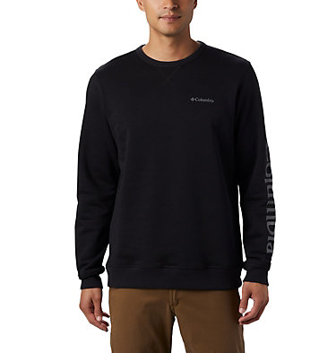 Men's Columbia™ Logo Fleece Crew M Columbia™ Logo Fleece Crew | 432 | L, Black, City Grey, front