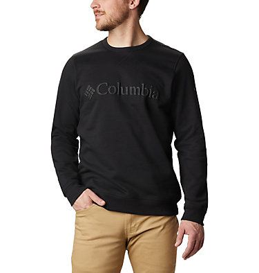 Men's Columbia™ Logo Fleece Crew M Columbia™ Logo Fleece Crew | 011 | S, Black Puff Logo, front