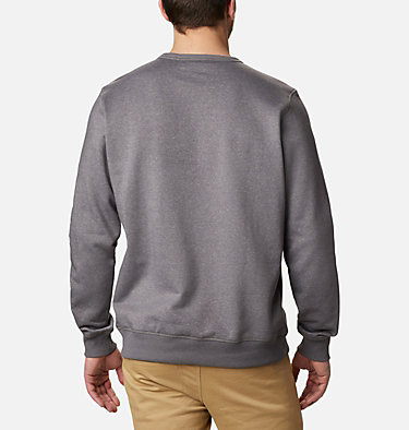 Men's Columbia™ Logo Fleece Crew M Columbia™ Logo Fleece Crew | 011 | S, City Grey Heather, Columbia Grey, back