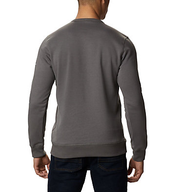 Men's Columbia™ Logo Fleece Crew M Columbia™ Logo Fleece Crew | 432 | L, Charcoal, Black, back