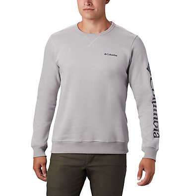 Columbia™ Logo Fleece Crew für Herren M Columbia™ Logo Fleece Crew | 011 | S, Columbia Grey Heather, Collegiate Navy, front