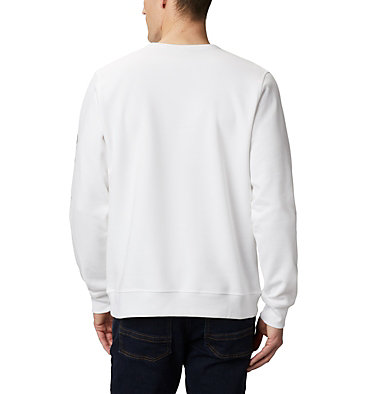 Men's Columbia™ Logo Fleece Crew M Columbia™ Logo Fleece Crew | 011 | S, White, Black, back