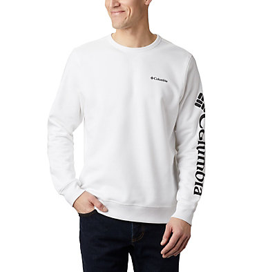 Men's Columbia™ Logo Fleece Crew M Columbia™ Logo Fleece Crew | 011 | S, White, Black, front