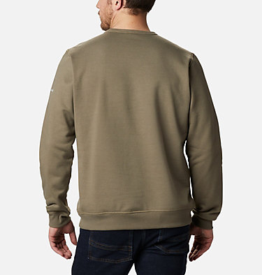 Men's Columbia™ Logo Fleece Crew M Columbia™ Logo Fleece Crew | 011 | S, Stone Green Puff Logo, back