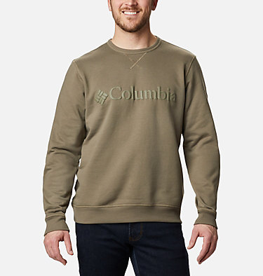 Men's Columbia™ Logo Fleece Crew M Columbia™ Logo Fleece Crew | 011 | S, Stone Green Puff Logo, front