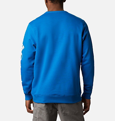 Men's Columbia™ Logo Fleece Crew M Columbia™ Logo Fleece Crew | 432 | L, Bright Indigo, White, back