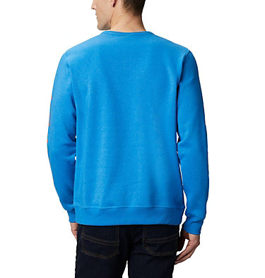 Men's Columbia™ Logo Fleece Crew M Columbia™ Logo Fleece Crew | 011 | S, Azure Blue Heather, Wildfire, back