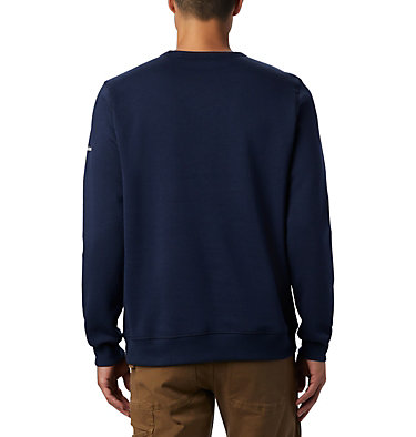 Men's Columbia™ Logo Fleece Crew M Columbia™ Logo Fleece Crew | 011 | S, Collegiate Navy, White, back