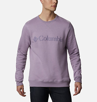Men's Columbia™ Logo Fleece Crew M Columbia™ Logo Fleece Crew | 432 | L, Shale Purple Puff Logo, front