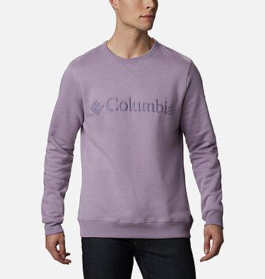 Men's Columbia™ Logo Fleece Crew M Columbia™ Logo Fleece Crew | 011 | S, Shale Purple Puff Logo, front