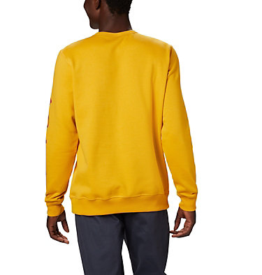 Men's Columbia™ Logo Fleece Crew M Columbia™ Logo Fleece Crew | 011 | S, Bright Gold, Carnelian Red, back