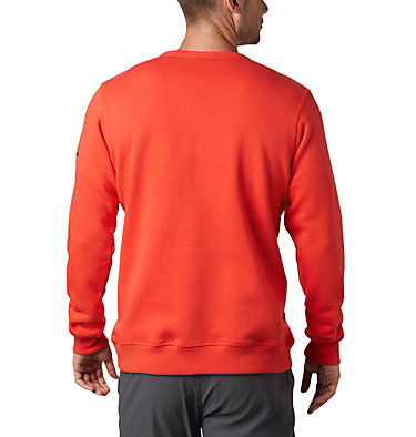 Men's Columbia™ Logo Fleece Crew M Columbia™ Logo Fleece Crew | 432 | L, Wildfire, Fossil, back
