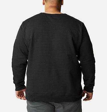 Men's Columbia™ Logo Fleece Crew – Extended Size M Columbia™ Logo Fleece Crew | 011 | 4X, Black Puff Logo, back