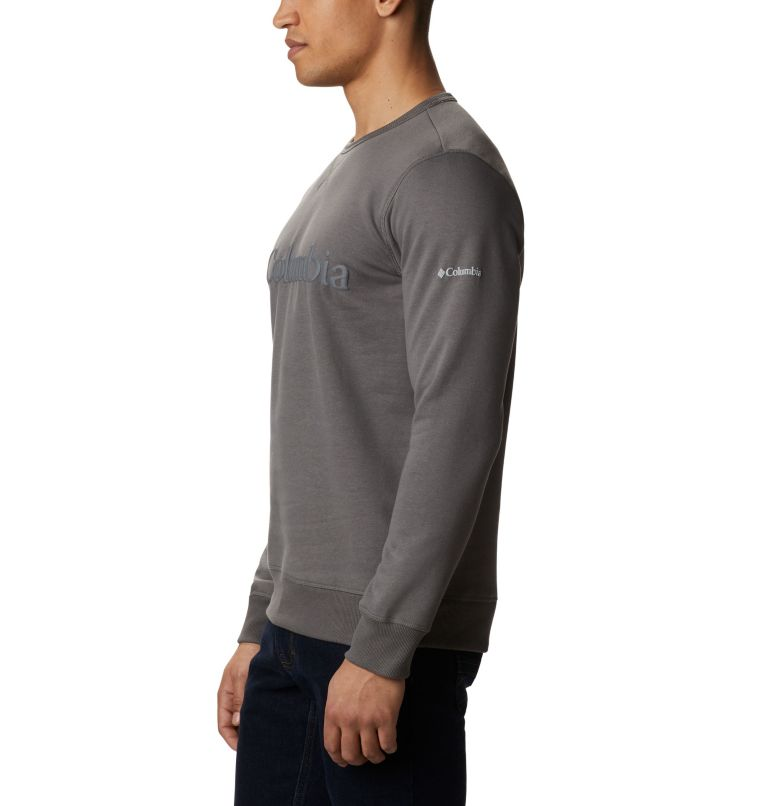M Columbia™ Logo Fleece Crew | 030 | 3X Men's Columbia™ Logo Fleece Crew - Big, Charcoal, Black, a1