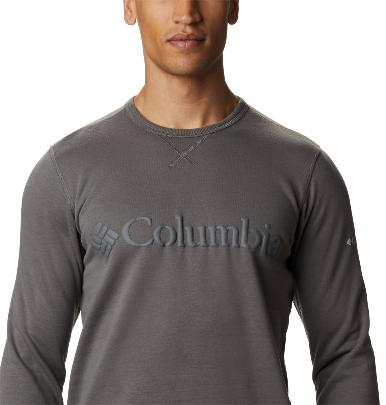 M Columbia™ Logo Fleece Crew | 030 | 3X Men's Columbia™ Logo Fleece Crew - Big, Charcoal, Black, a2