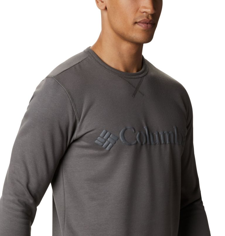 M Columbia™ Logo Fleece Crew | 030 | 3X Men's Columbia™ Logo Fleece Crew - Big, Charcoal, Black, a3
