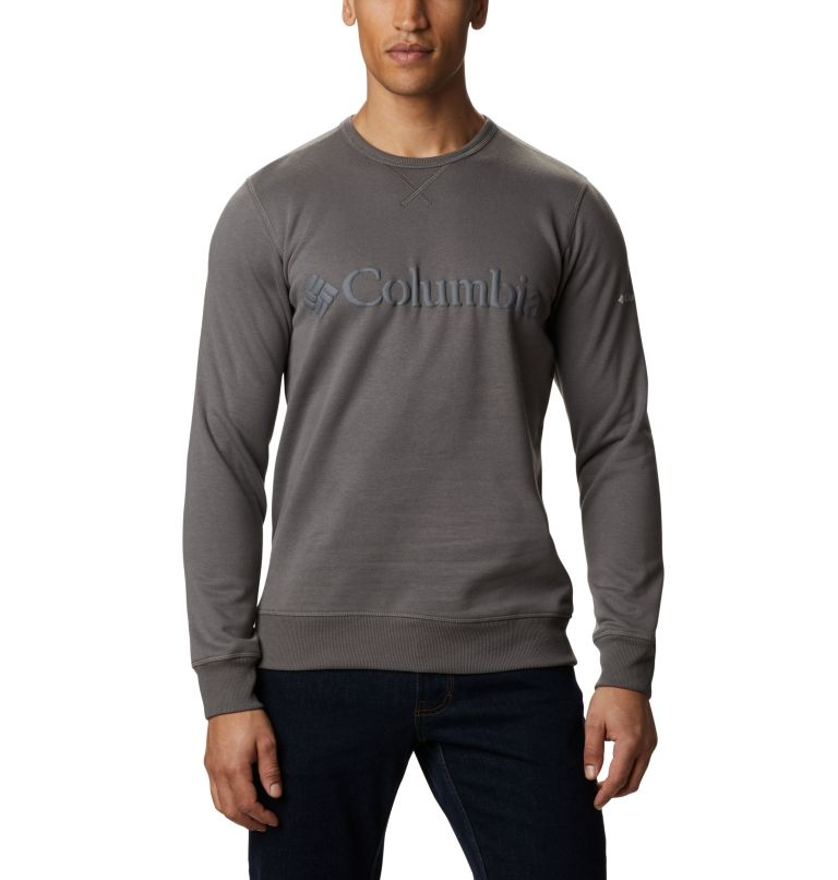 M Columbia™ Logo Fleece Crew | 030 | 3X Men's Columbia™ Logo Fleece Crew - Big, Charcoal, Black, front