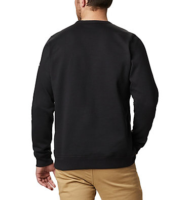 Men's Columbia™ Logo Fleece Crew - Tall M Columbia™ Logo Fleece Crew | 666 | 2XT, Black Puff Logo, back