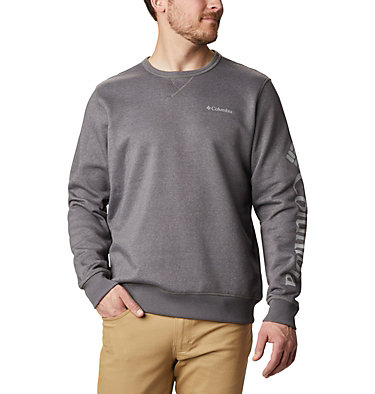 Men's Columbia™ Logo Fleece Crew - Tall M Columbia™ Logo Fleece Crew | 666 | 2XT, City Grey Heather, Columbia Grey, front