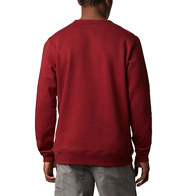 Men's Columbia™ Logo Fleece Crew - Tall M Columbia™ Logo Fleece Crew | 666 | 2XT, Red Jasper, White, back