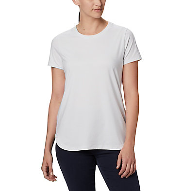 Women's Firwood Camp II Short Sleeve Shirt Firwood Camp™ II SS Tee | 101 | XS, White Small Stripe, front